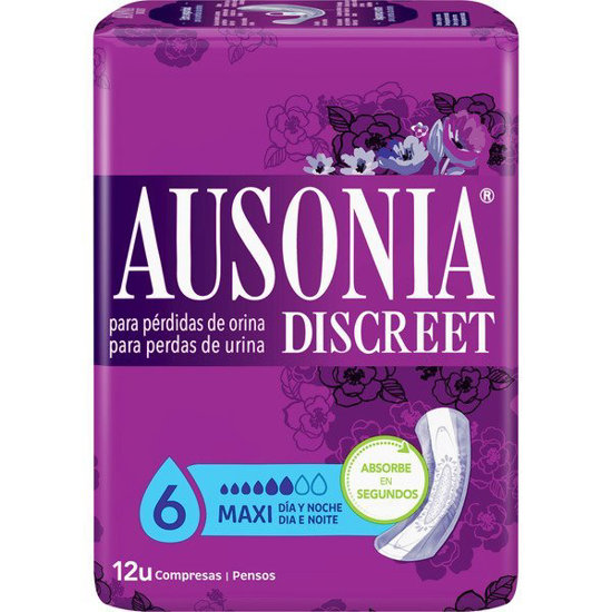 Picture of PENSOS AUSONIA DISCREET MAXI 12